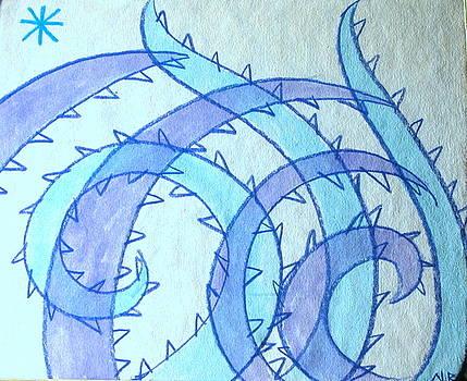 Blue swril number fourteen by Nina Bravo