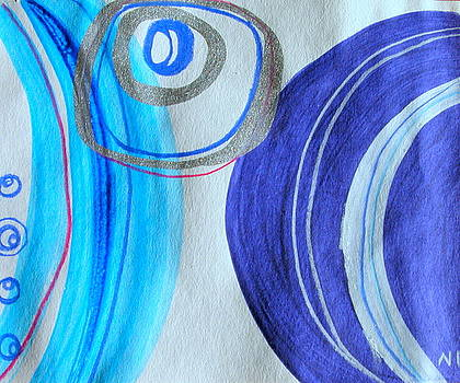 Blue Swril Number One by Nina Bravo