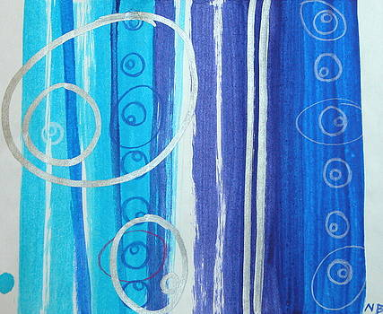 Blue swril number six by Nina Bravo