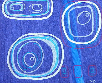 Blue swril number ten by Nina Bravo