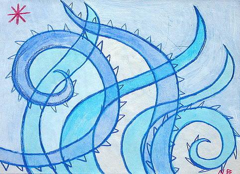 Blue Swril Number Thirteen by Nina Bravo