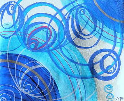 Blue Swril Number three by Nina Bravo