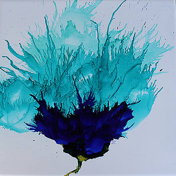 Blue Thistle by Suzanne Canner
