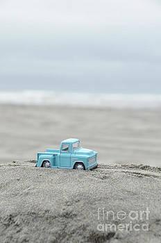 Jill Battaglia - Blue Toy Pickup Truck at the Beach