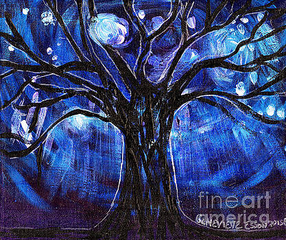 Genevieve Esson - Blue Tree At Night