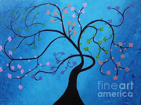 Blue Tree by Dawn Plyler