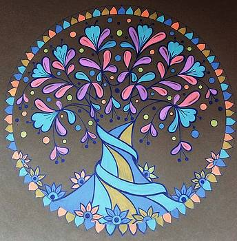 Blue tree 2 by Jilly Curtis