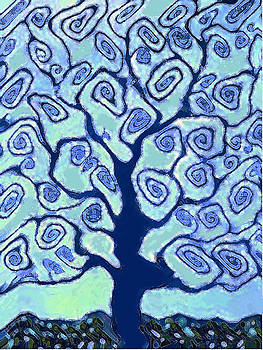 Blue Tree by Vicky Brago-Mitchell