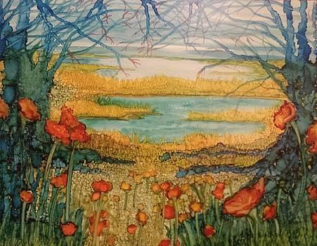 Blue Trees by Betsy Carlson Cross