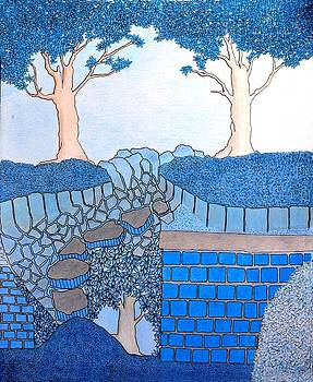 Blue Trees by Gregory Carrico