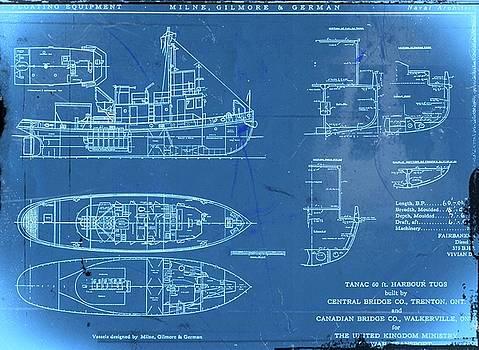 Blue Tugboat Blueprints by Joseph Hawkins