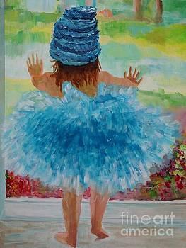 Blue Tutu by Frankie Picasso