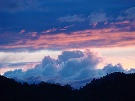 Baslee Troutman - Blue Twilight Clouds Art Prints Mountain Pink Sunset Baslee Troutman