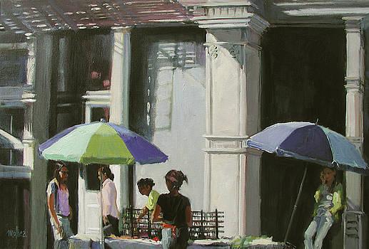 Blue Umbrellas by Patti Mollica