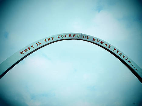 TONY GRIDER - Blue U.S. Declaration of Independence Arch