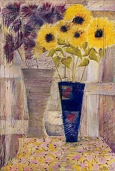 Blue Vase I by Leslie Marcus