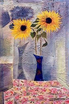Blue Vase Ii by Leslie Marcus