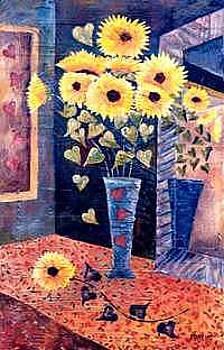 Blue Vase Iii by Leslie Marcus