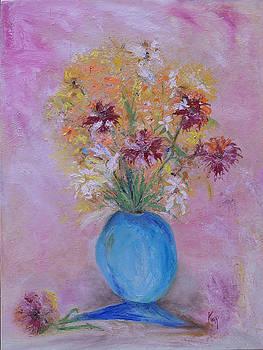 Blue Vase by Kathy Knopp