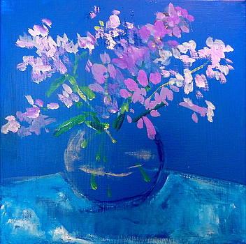 Blue Vase by Linda Puiatti