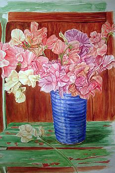 Blue vase by Sethu Madhavan