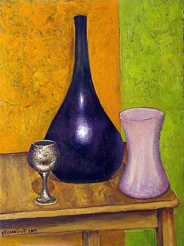Blue vase  by Vladimir Kezerashvili