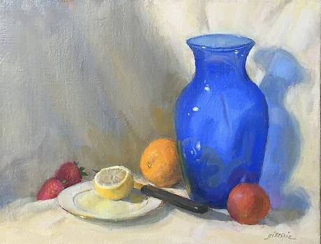 Blue Vase with Fruit by Michael Gillespie