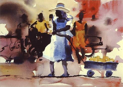 Blue Wagon by Charles Hawes