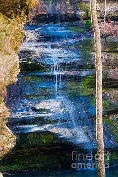 Blue Waterfall by Peggy Franz