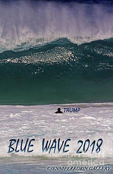 Blue Wave - Trump by Jennifer Robin