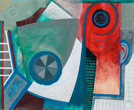 Blue Wheel by Paul Greco
