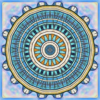 Blue Wheeler 1 by Wendy J St Christopher