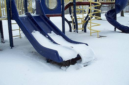 Blue Winter Playground by Janet Pugh