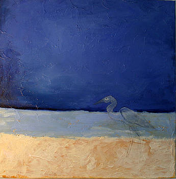 Victoria Sheridan - blue with bird