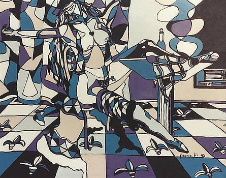 Blue woman by Muniz Filho