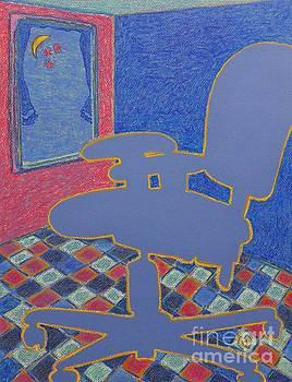 Blue Worker by Heather McFarlane-Watson