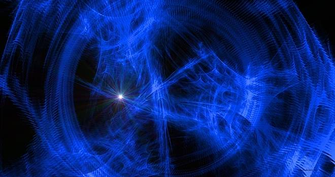 Blue Wormhole Turbulence  by Michelle  BarlondSmith