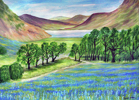 Bluebells at Crummock Water- Lake District by Ronald Haber