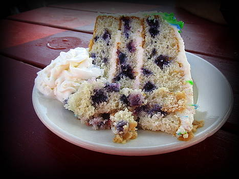 Blueberry Cake With Lemon Icing by Suzanne DeGeorge
