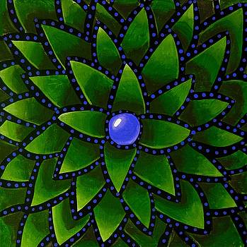 Blueberry Core - Abstract Art by Ai P Nilson