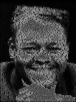 Blueberry Hill Lyrics Mosaic by Paul Van Scott