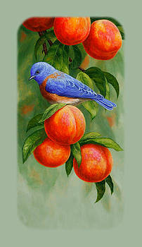 Crista Forest - Bluebird and Peaches iPhone Case