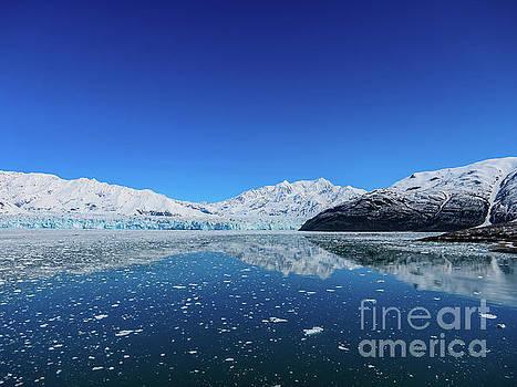 Bluebird day at Hubbard Glacier by Dave Matchett
