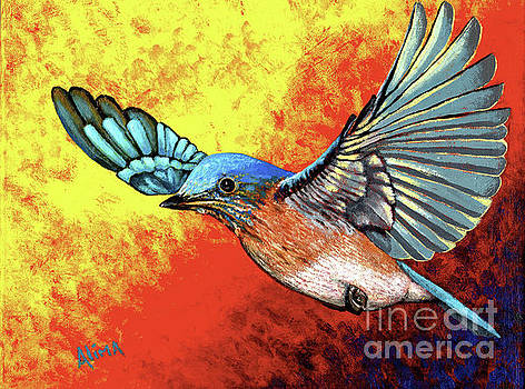 Bluebird in Flight by Alima Newton
