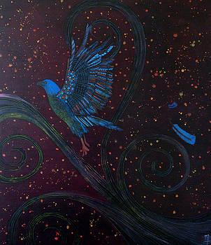 Bluebird of happiness by Monica Furlow