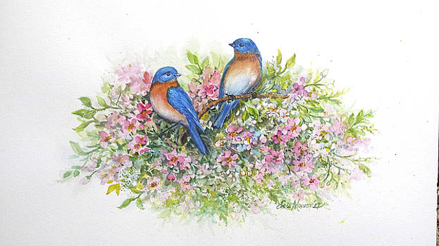 Bluebirds 'n Blossoms by Lois Mountz