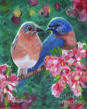 Bluebirds of Happiness by Erika Nelson