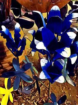Bluebonnet Yard Art by Patricia Rex