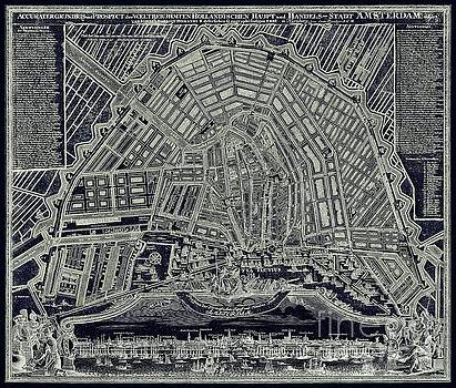 Tina Lavoie - Blueprint Map of Amsterdam circa 1727