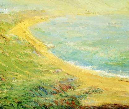 Bluff At Pourville 1910 by Guy Rose
